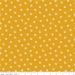 Rover Paw Orange Yardage