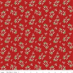 Pixie Floral Red Yardage