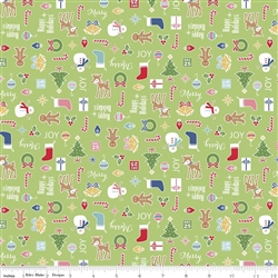 Cozy Christmas Main Green Yardage