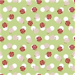 Sew Cherry 2 Rose Green - C5801-Green by Lori Holt of A Bee in My Bonnet