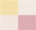 Sew Cherry 2 Fat Quarter Panel Yellow