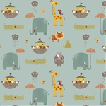 Giraffe Crossing 2 Main Teal Yardage