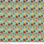 Giraffe Crossing 2 Dots Teal Yardage