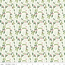 Comfort and Joy Cream Foral Yardage
