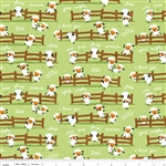 Harmony Farm Harmony Sheep Dream Green SKU# C6691-Green by Shawn Wallace for Riley Blake