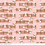 Harmony Farm Harmony Sheep Dream Pink SKU# C6691-Pink by Shawn Wallace for Riley Blake
