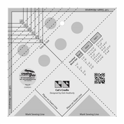Creative Grids Cat's Cradle Tool Quilt Ruler