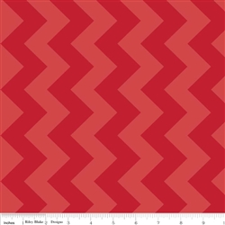 "Medium Tone/Tone Chevron Dreamy 60"" Red"