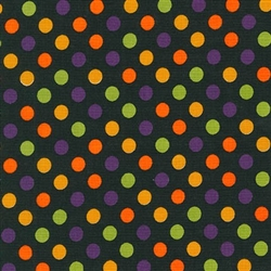 Spooky multi color spots on black