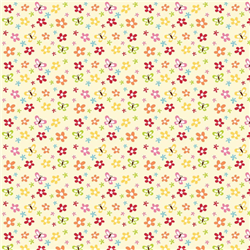 Buzzy Floral Cream Flannel Yardage