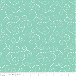 Oh Boy Swirls Aqua Flannel Yardage