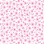 Fog City Kitty Coral Daisy Yardage