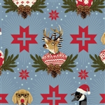 Tula Pink - Holiday Homies - Buck, Buck, Goose - Blue Spruce by Tula Pink