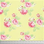 Lola Lola Yardage - Roses Yellow