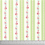 Lola Lola Garden Ticking Yardage - Green