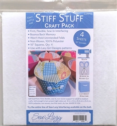 Lazy Girl Designs Stiff Stuff 10in Squares Craft Pack