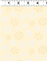 Not Even A Mouse Cream Snowflake Print Yardage