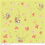Butterfly Dance Main Green Yardage