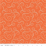 Oh Boy Swirls Orange Flannel Yardage