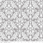 Hollywood Medium Damask Gray