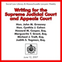 Writing for the Supreme Judicial Court and Appeals Court  (3-CD Audio Set)