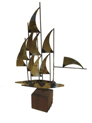 Signed William Bowie - jere era Windjammer sculpture