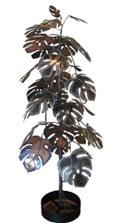 Curtis Jere vintage metal tree Sculpture 6'