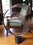 Jere abstract Vintage metal sculpture swirl