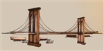 Curtis Jere vintage metal bridge Sculpture Brooklyn Bridge vintage metal sculpture by C. jere