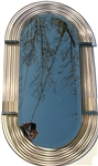 C. Curtis Jere Vintage Large Brass Mirror