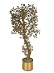 Vintage Curtis Jere, signed  as C. Jeré , 1970's Huge metal raindrops tree sculpture