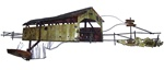Jere covered bridge Vintage metal sculpture