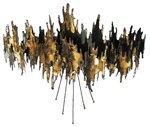 jere abstract candle sconce Vintage metal sculpture