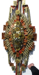 Large Monumental Mid-Century Abstract Wall Sculpture