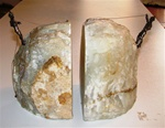 Vintage 1960's Curtis Jere Mountain Climber  bronze and stone Bookends
