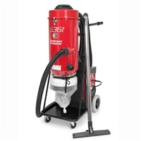 Ermator S36 230V single-phase HEPA Dust Extractor 230 Volt is the most popular extractor on the market today.  Three large commercial-grade motors provide plenty of power to handle any mid-size planetary type floor grinder.  Includes a conical 50 sq ft pr