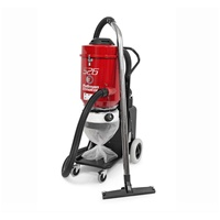 "Ermator S26 HEPA Single-Phase Dust Extractor Dual motor power makes the S26 ideal for small floor grinders, connection to two hand power tools working simultaniously.  Also effective with scarifiers and edgers.  Comes with 16-foot 2"" hose, wand and floor"