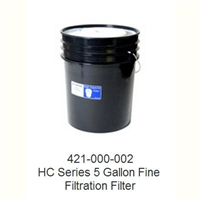 421-000-005 Bucket-style HEPA filter for Model HCTV vacuum   0.3 micron HEPA filter