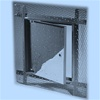 The Acudor AP-5010 recessed access door is designed for use in acoustical plaster walls and ceilings. The door is recessed and is lined with self-furring lath. An expansion casing bead with 3 wide galvanized lath, included as part of the frame, provides a