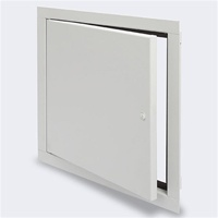 Acudor AS-9000 is a fully gasketed access door, designed for use in walls and ceilings. The formed door panel, with a concealed hinge, and closed cell neoprene gasket, provides for a tight fit. Most popular in stainless steel, with a #4 satin polish, this