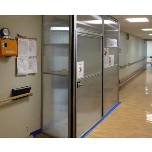 Edge Guard Dust Free Barrier Adjustable Panel Systems Has