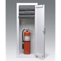 "FB 3612 SERIES: Exclusive combination fire extinguisher and fire blanket cabinet, which is identical to the Architectural Series model 3612 (see Architectural Series) except for the blanket shelf located 9"" down from the top of the cabinet, leaving 27"" fo"