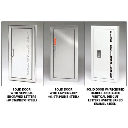 GENERAL DESCRIPTION Larsens Architectural Series Is A - Semi recessed fire extinguisher cabinet