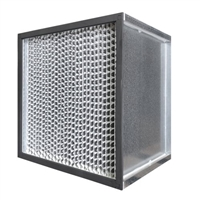 99.999% HEPA Filter Metal Frame 23 3/8 x 23 3/8 x 11 1/2 Glasfloss Magna 1200 Series