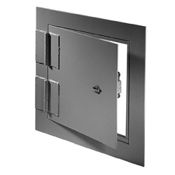 The Acudor SD-6000 is a heavy-duty access door designed for use in high security areas. The angle frame construction and 10 gage plate door panel makes this access door ideal for prisons, correctional facilities, housing projects etc.