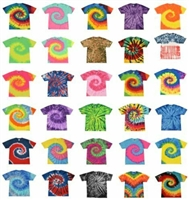 Womens/Mens Colorful Tie-dye Shirts