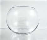 "Glass Bowl Vase, 8.3"" x 10 x ""6"