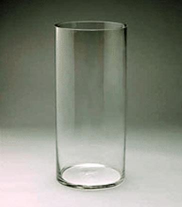 Gl Cylinder Vase 16 X 6