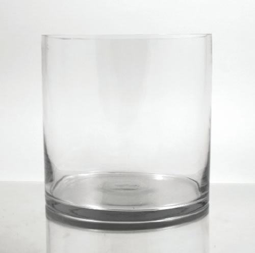 Glass Cylinder Vase 10 Quot X 9 Quot
