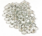 Glass Flat Marbles, Clear